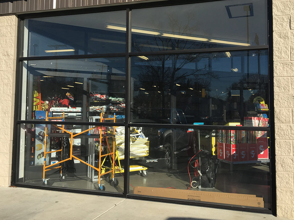 retail business with solar window films